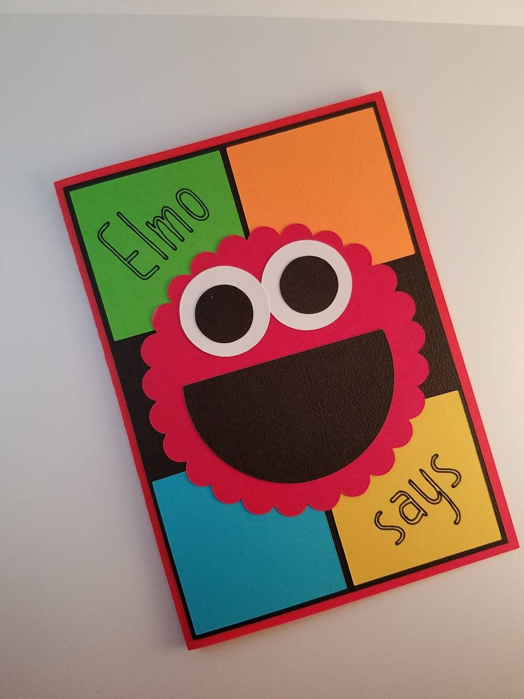 Elmo birthday card sesame street card elmo says card kids
