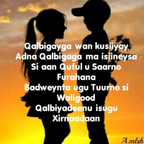 Qalbigayga Wan Kusiiyay Adna Qalbigaga Ma Isiineysa Si Aan