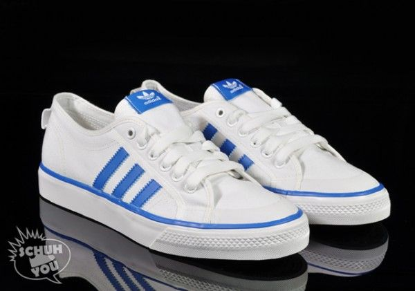 latest fashion discount sale great deals adidas Originals Nizza Hi + Lo - White - Blue - SneakerNews ...