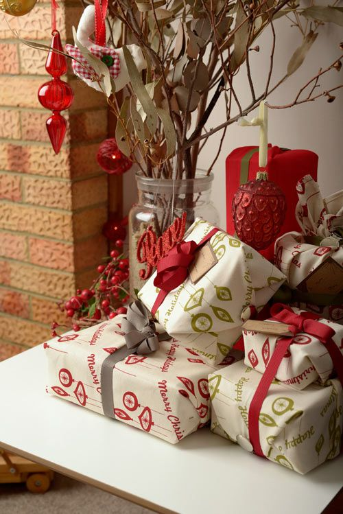 ecoChici Reusable Fabric Gift Wrap - By Design Milk Christmas