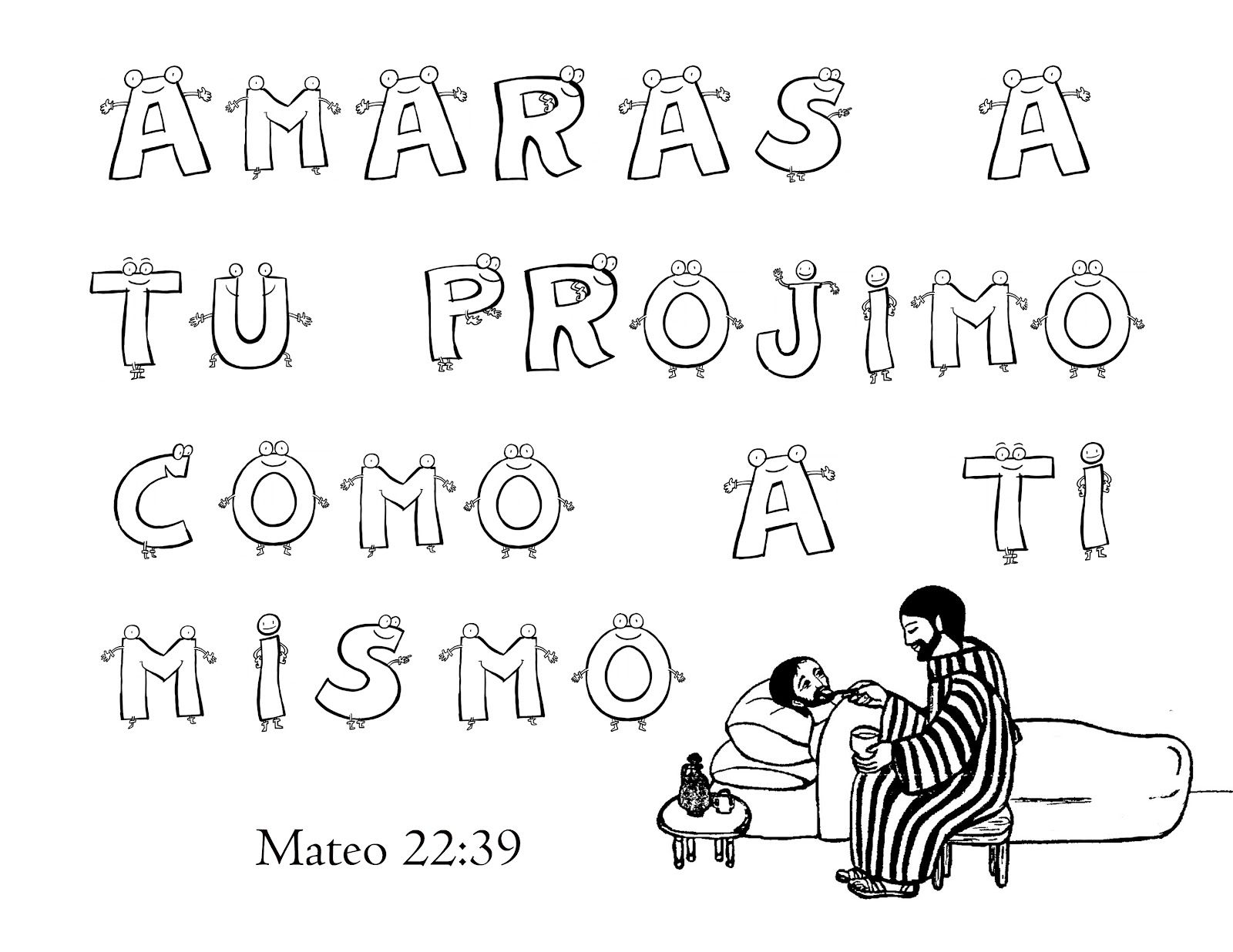 DIBUJOS PARA COLOREAR: TEXTOS BIBLICOS PARA COLOREAR CON