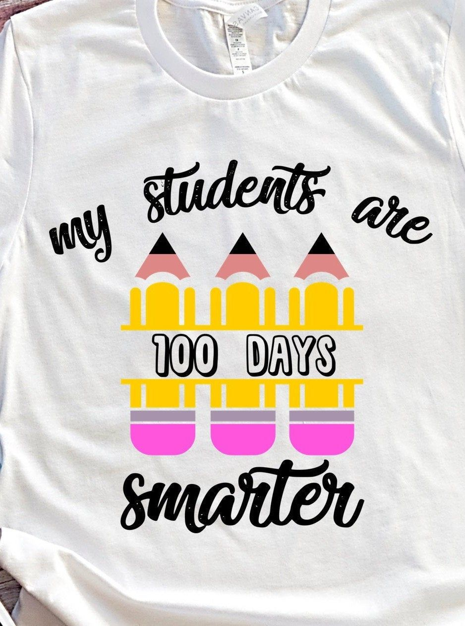 100th day of school shirt for teacher Teachers cotton | Etsy
