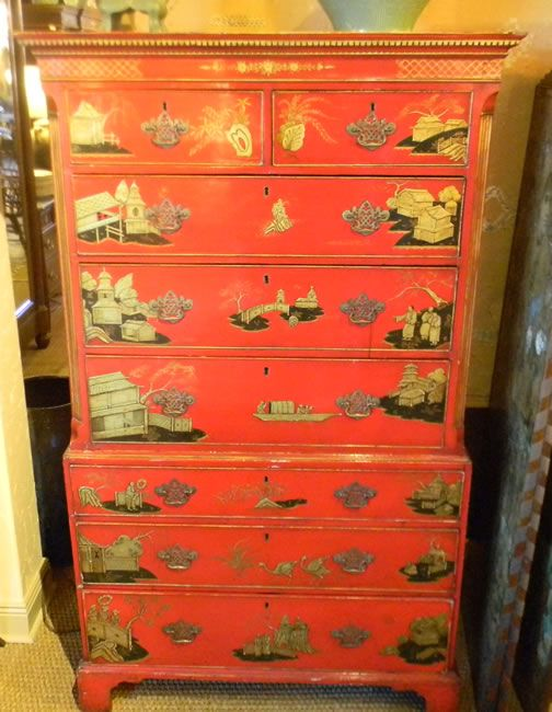 Chinoiserie Chest On Chest $8900 Chests U2014 Plantation Antique Galleries,  Mobile, AL