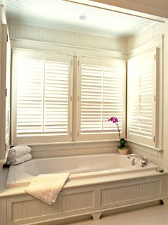 Blinds for the window over the garden tub Bathrooms Pinterest