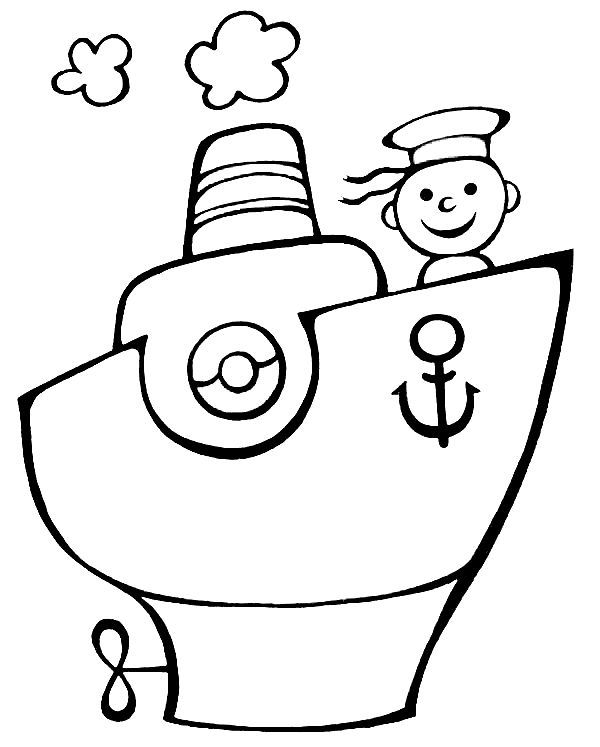 Dibujos para colorear de transportes: Coches, barcos, trenes ...