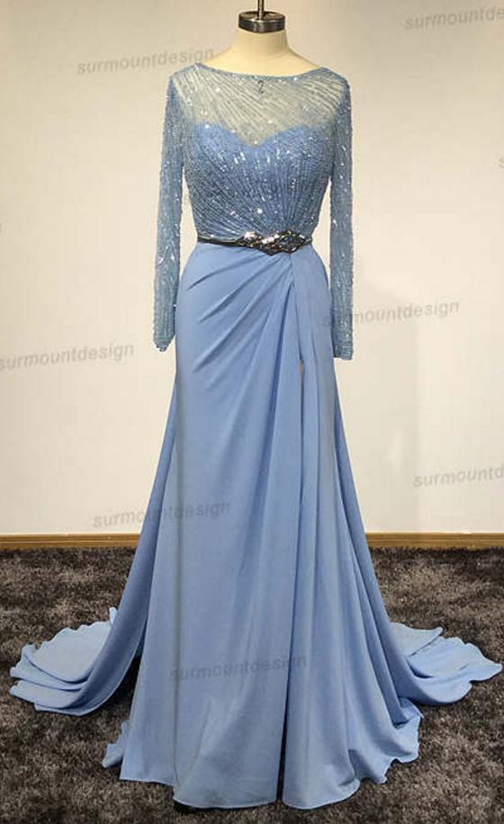 Surmount Custom Made Scoop Neck Abendkleider A Line #promdresses #promdress #eveningDresses #longDress #homecomingdresses #shortDress #lace