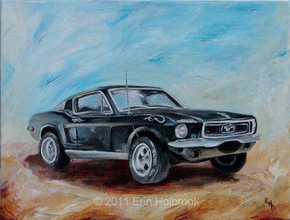 Car Portraits – Custom Classic Car Painting, Vintage Car Art, Car Enthusiast Gift, Acrylic Painting