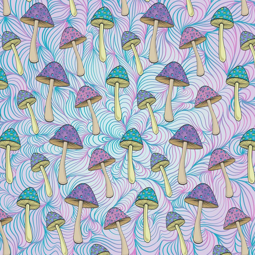 Trippy Mushrooms Art Print By Vickn X Small Mushroom Art Trippy Mushrooms Art Prints