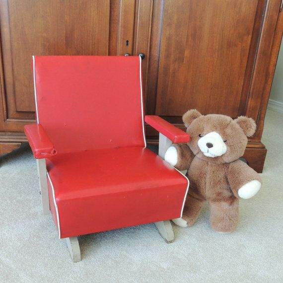 Vintage Childs Platform Rocking Chair / Spring by BroadleyStreet, $120.00