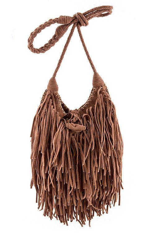 leather fringe messenger bag cross body bag shoulder от Scarlettaa