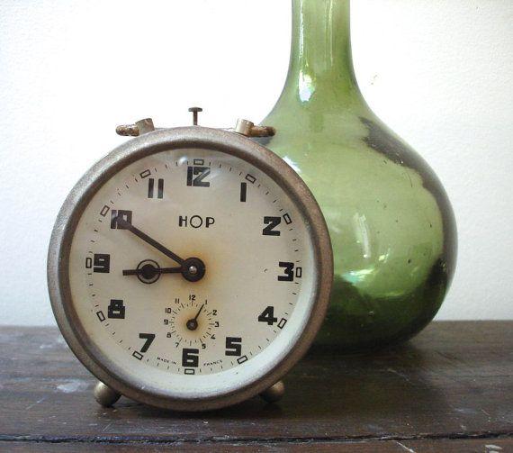 Vintage 1940's HOP alarm clock by SAMANTHATENN on Etsy, $55.00