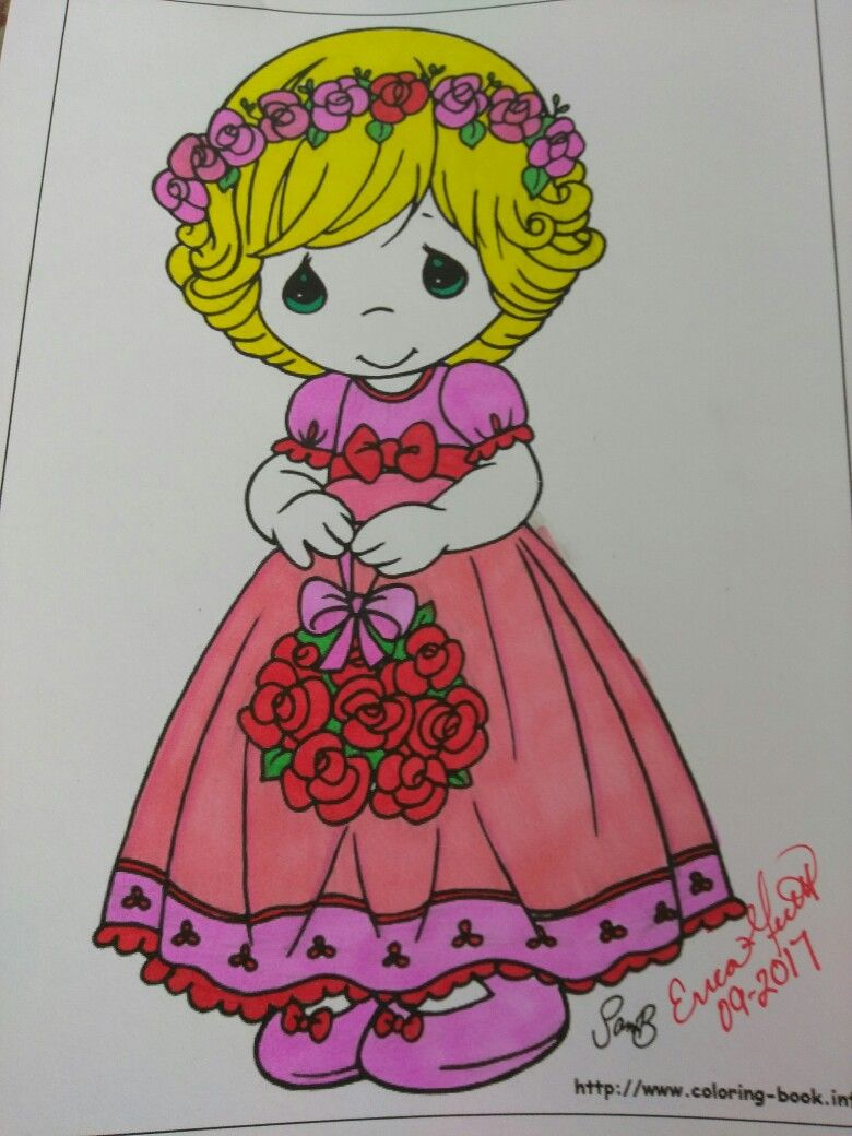 Flower girl precious moments   All My Colored Art Work   Pinterest ...