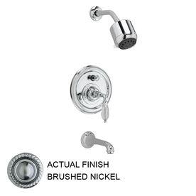 Jado Classic Brushed Nickel 1 Handle Tub And Shower Faucet Trim