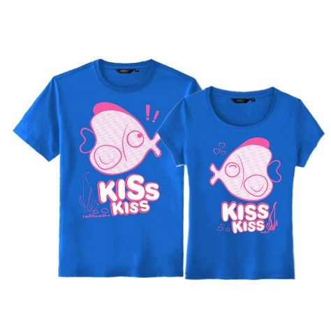 Cute Matching Fish Couple T Shirts For Sale Set Of Two