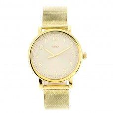 ce57182c2566 Reloj Timex Mujer Dorado Grande