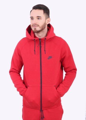 Nike Apparel Tech Fleece Aw77 Hoodie University Red Nike Ss16