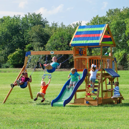 Photo of Beach Front Wooden Swing Set