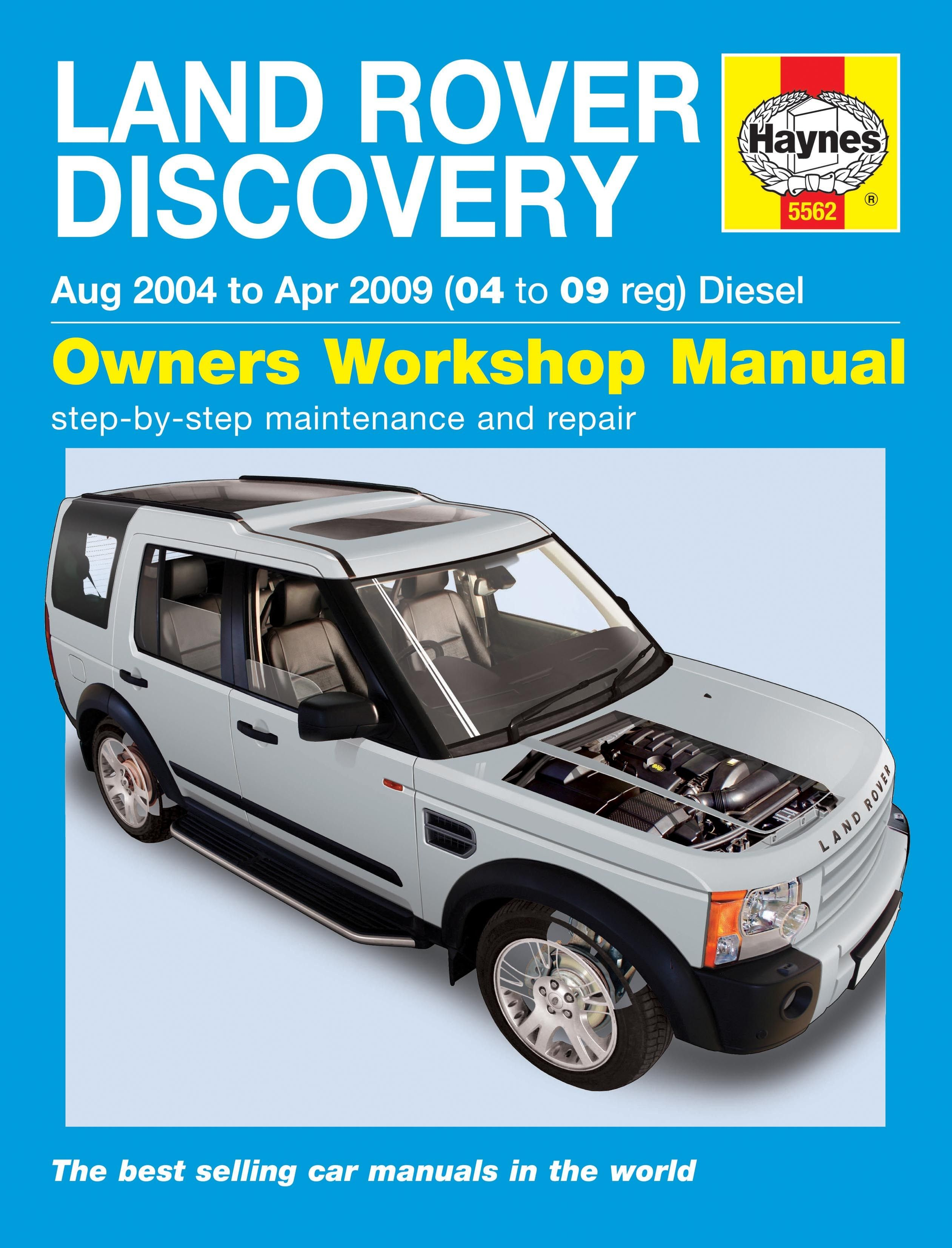 Haynes Discovery 3 Owners Workshop Manual Diesel Engine, Workshop, Repair  Manuals, Land Rover