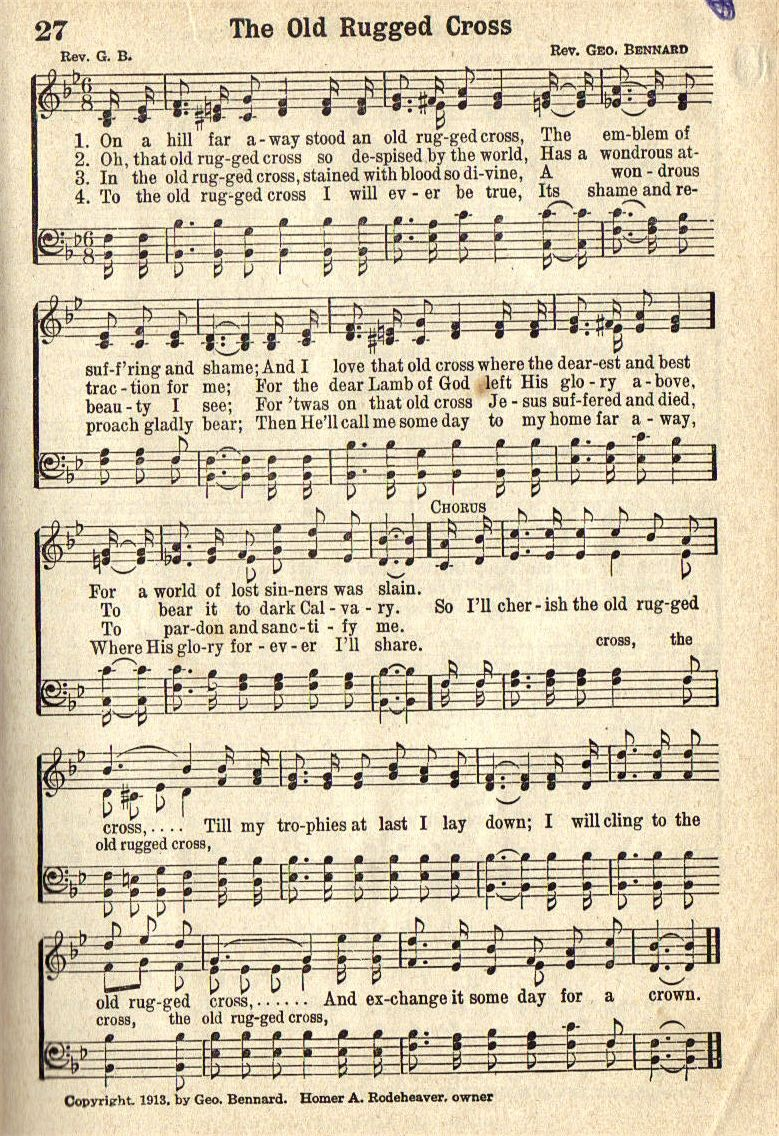 The Old Rugged Cross ~ my favorite hymn ~ Timeless | Music | Church