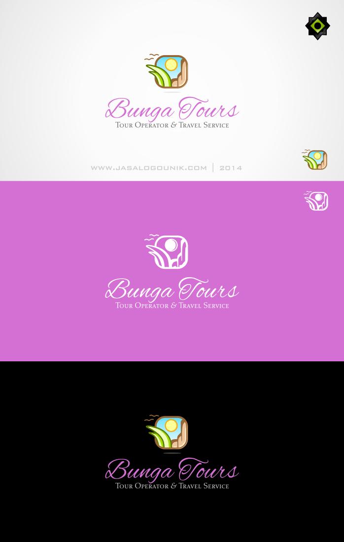 Jasa Desain Logo Usaha Tour Travel Bunga Tours Berikut Ini Adalah Sebuah Desain Logo Untuk Usaha Tour Travel Sebagai Desain Service Trip Logo Mark Tours