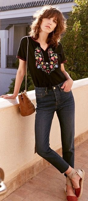 Casual Boho Fashion Outfit Top Now Available at PASABOHO ❤ black ...