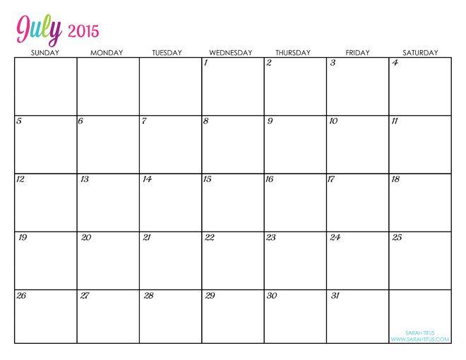Blank Calendar Doc : Custom editable free printable calendars sarah