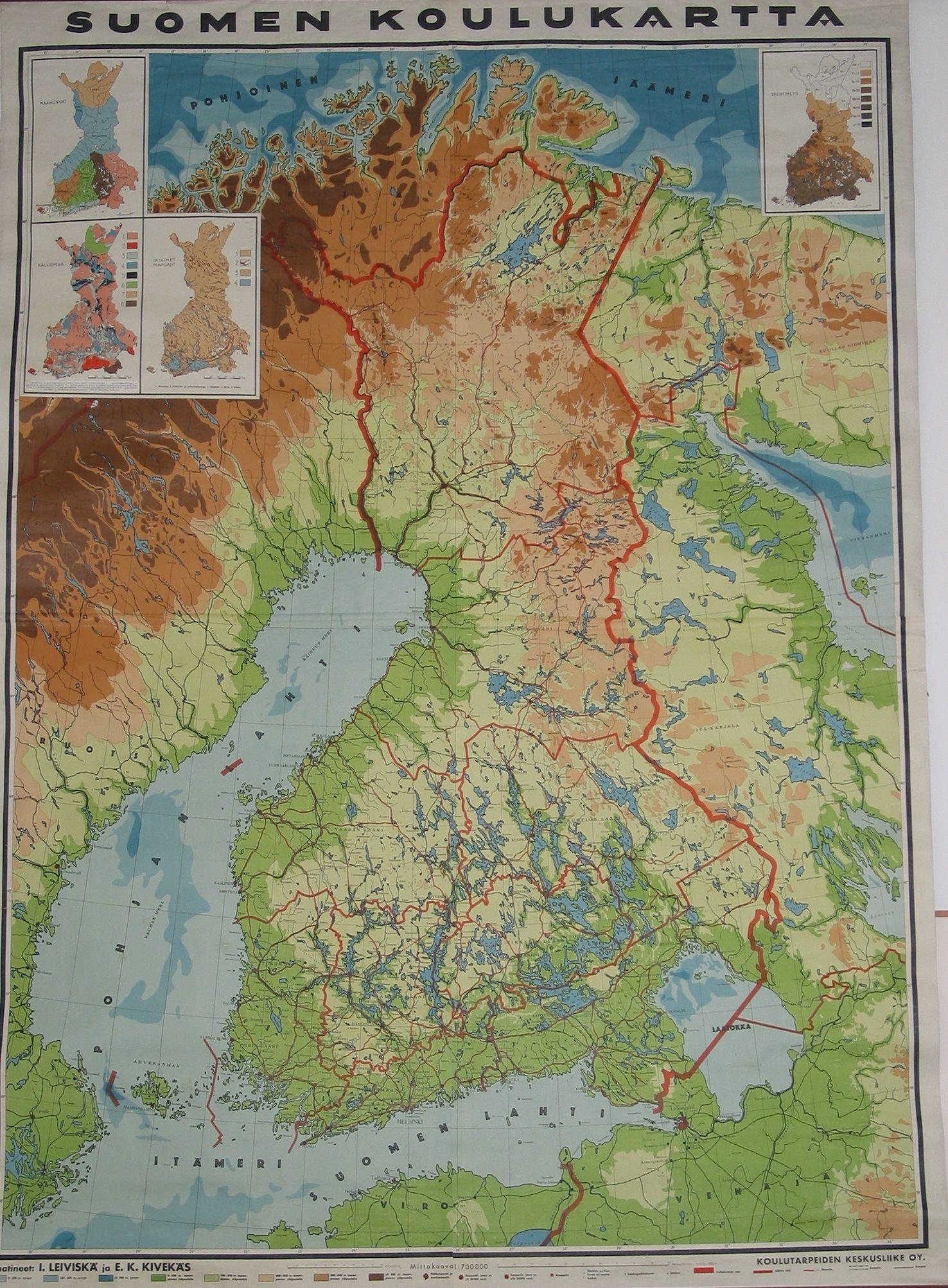 Suomen Koulukartta 1930 Luvulta Kartta Vanhat Kartat Maantiede
