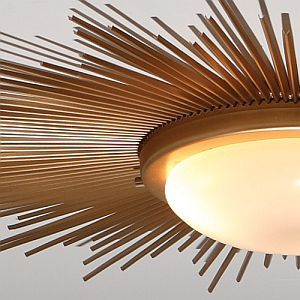 Rosa Beltran Design Blog Diy Sunburst Ceiling Light Star Lights On Ceiling Ceiling Lights Diy Ceiling Lights
