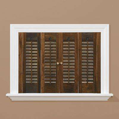 Traditional Real Wood Walnut Interior Shutter Price Varies by Size