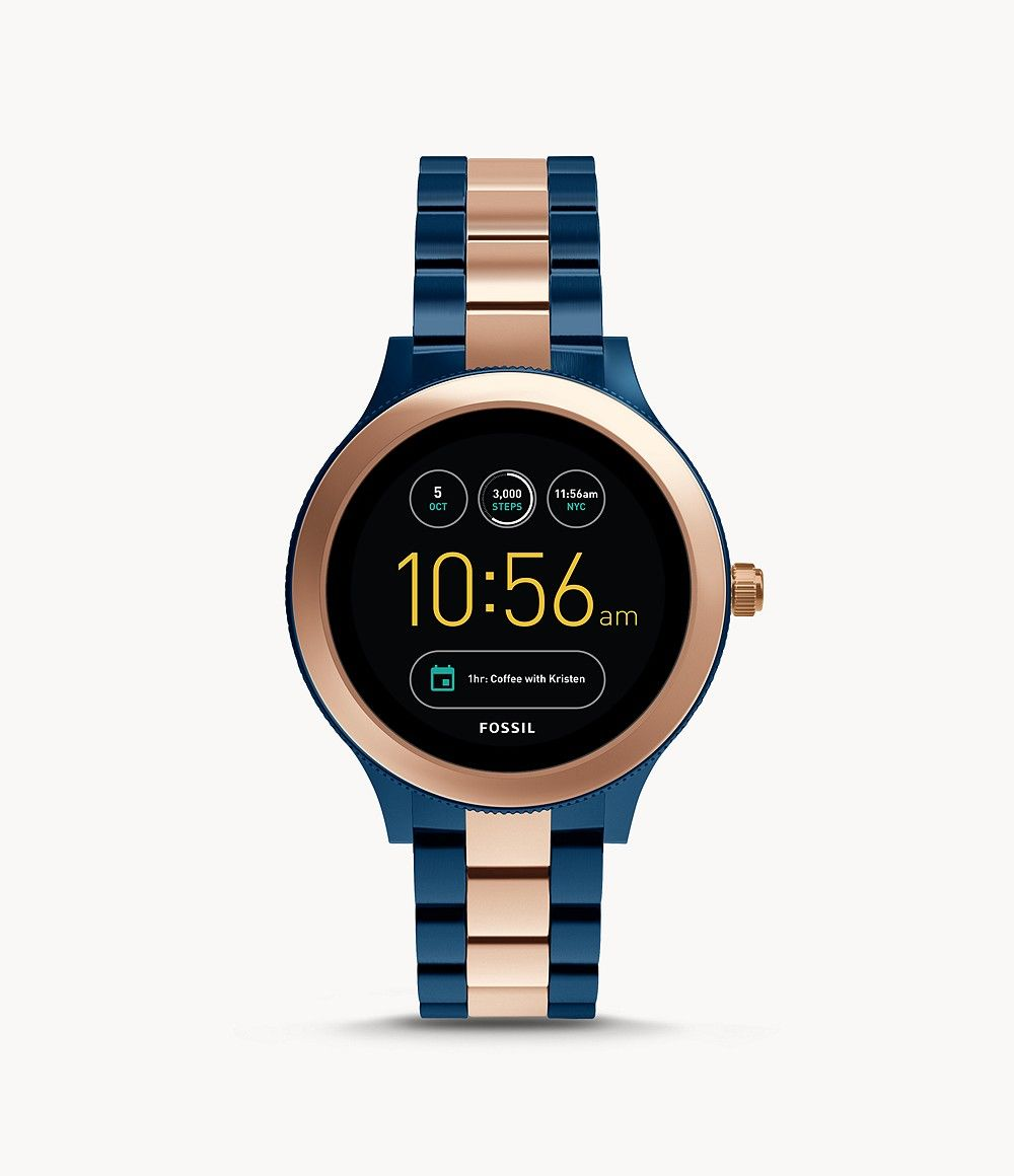 Damen Smartwatch Venture 3 Generation Edelstahl Rosegold In 2020 Fossil Damenuhren Fossil Uhren