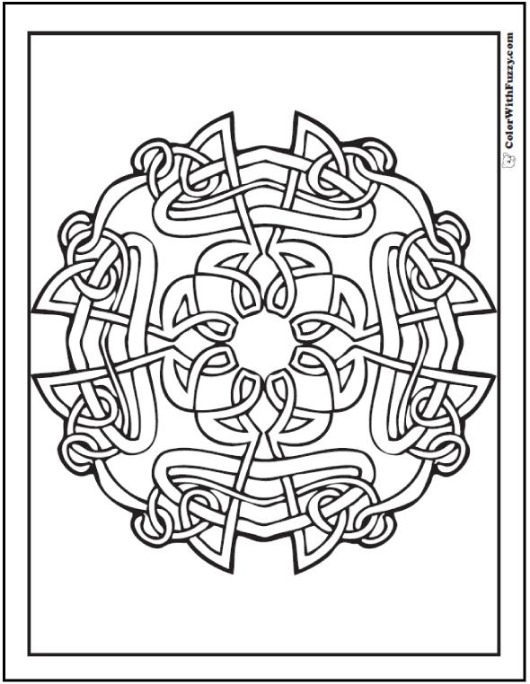 90 Celtic Coloring Pages: Irish, Scottish, Gaelic