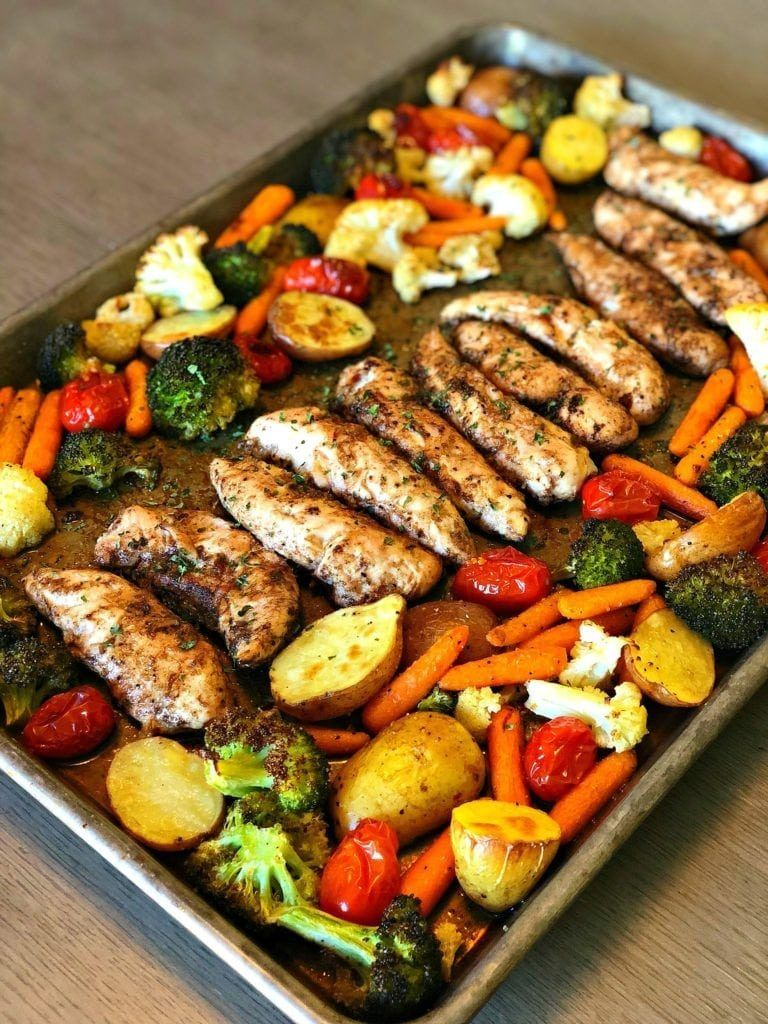 Herb Baked Chicken With Veggies images