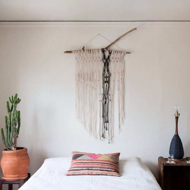 """""""My wall hanging workshop tomorrow, January 17th at @communal_la is sold out! ---- -------but join us afterwards for a trunk show of some of my macrame…"""""""