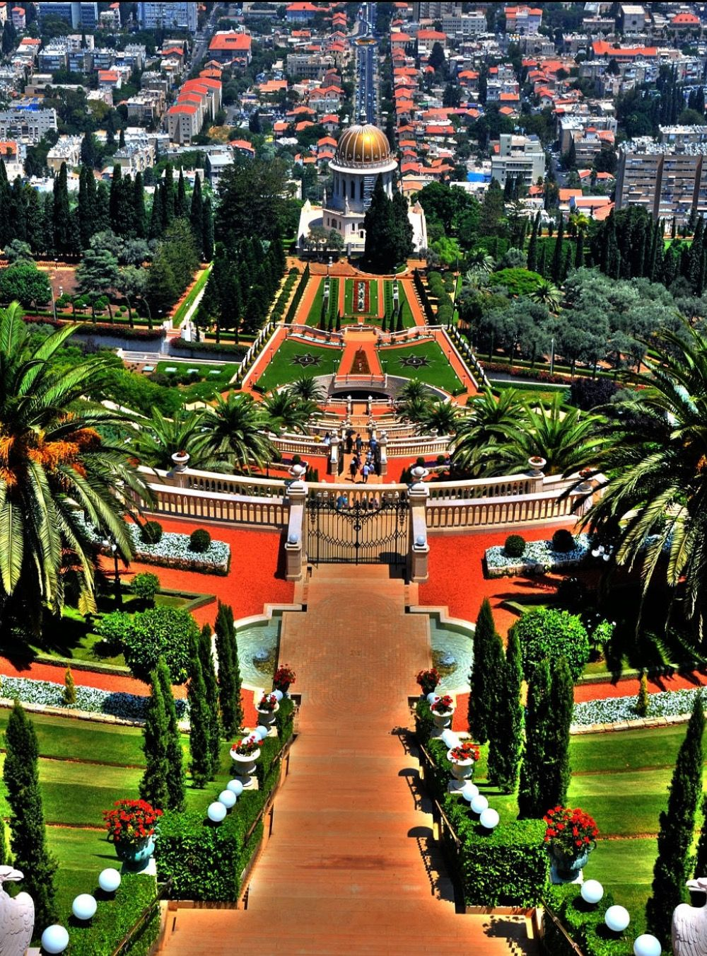 Bahai Gardens In Haifa Israel Photos