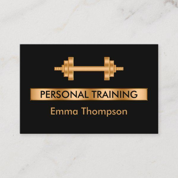 Noble Personal Trainer Fitness Visitenkarte | Zazzle.com -  Noble Personal Trainer Fitness Visitenka...