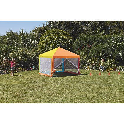 Kids Deluxe Gazebo with Mesh Wall Panels