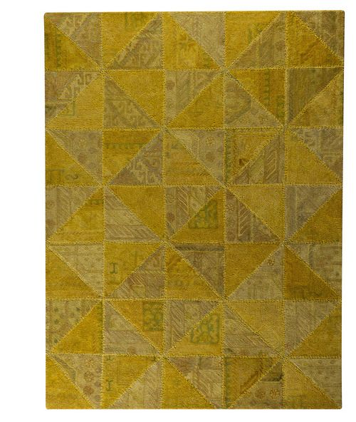 MAT Vintage Tile Gold #contemporarylivingroom #yellowrugs
