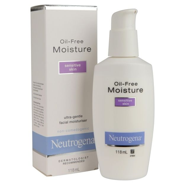 Neutrogena Oil Free Moisture Sensitive Skin Sensitive Skin Oil Sensitive Skin Treatment Sensitive Skin Care