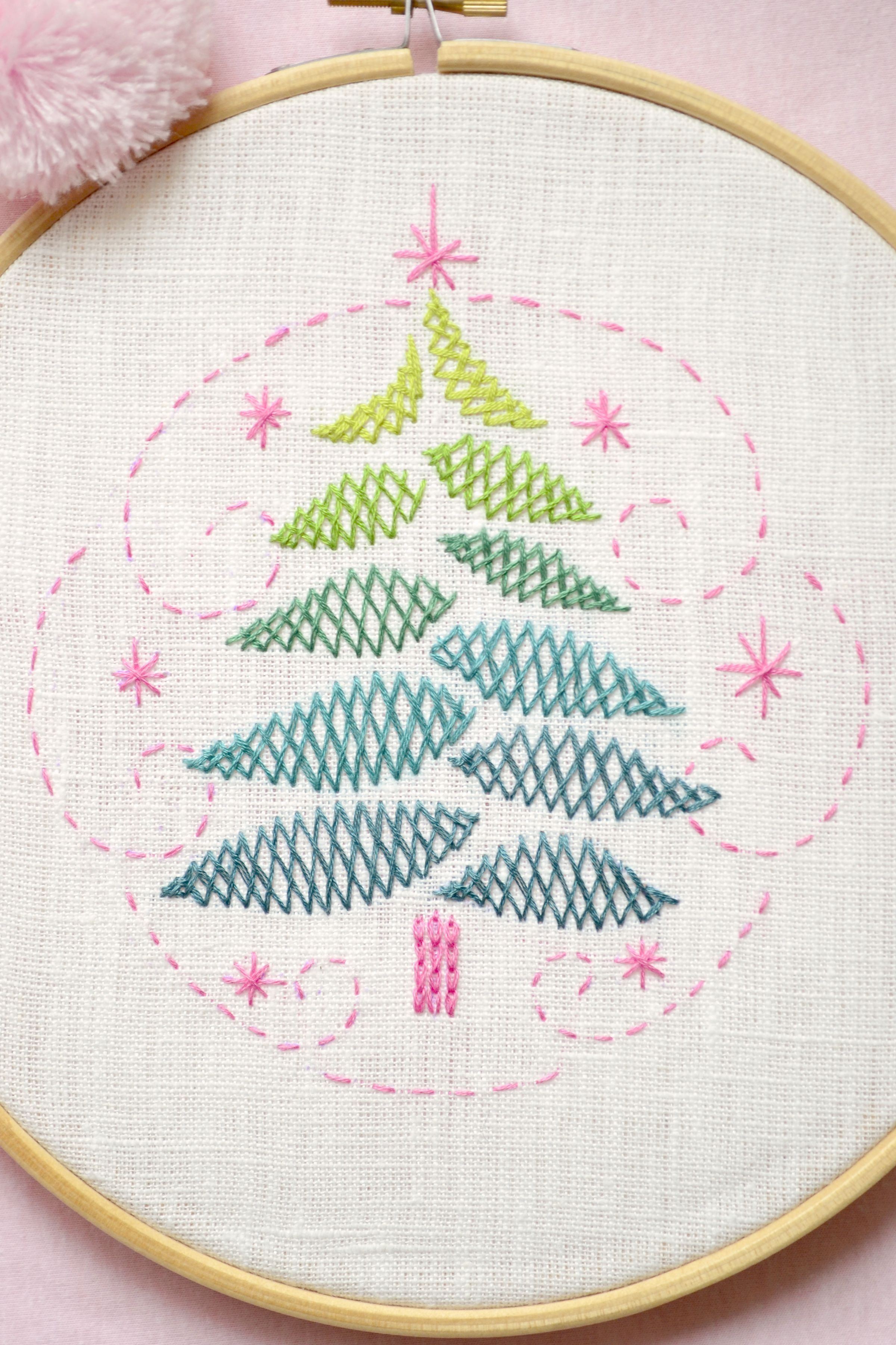 Hand embroidery pattern • PDF • Christmas tree embroidery ...
