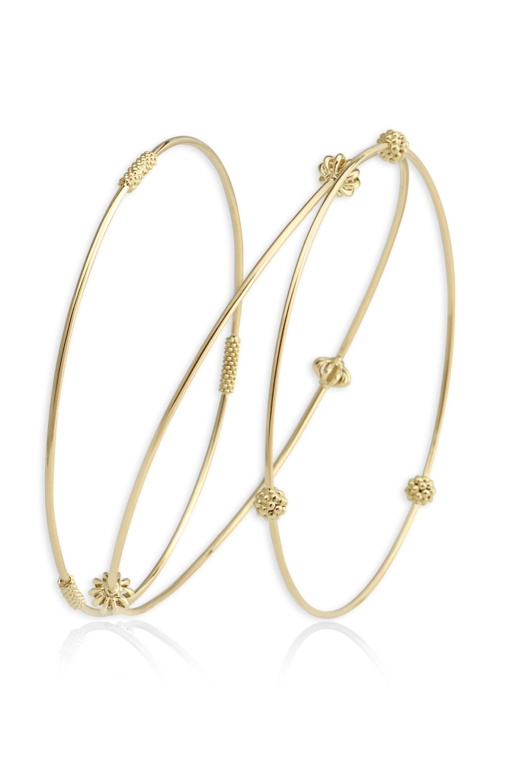 mirror set gold pin bangles white jewelry