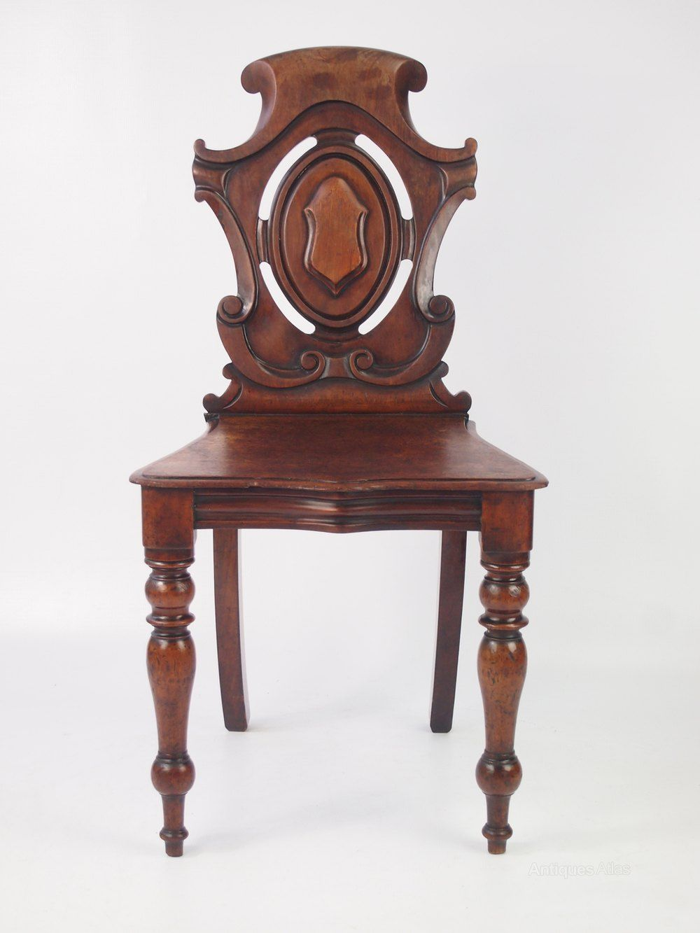 Victorian Mahogany Shield Back Hall Chair - Antiques Atlas - Victorian Mahogany Shield Back Hall Chair In 2018 Antique Hall