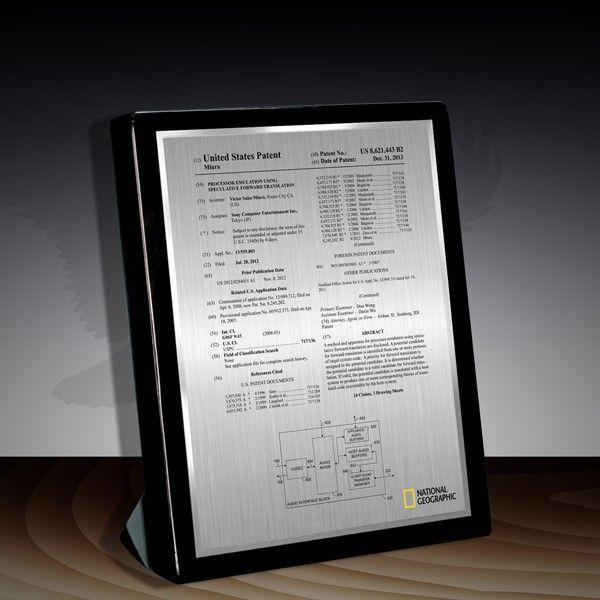 Patent Award - Black Piano Desk BP-79EZ Piano desk - certificate layout