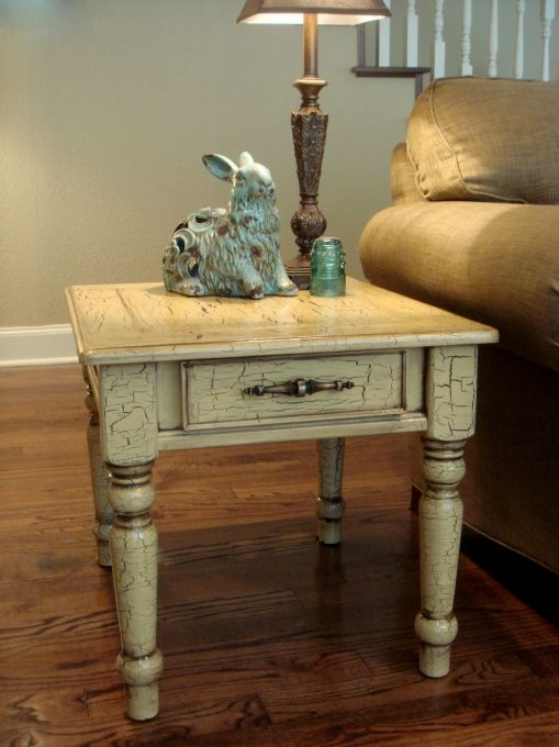 Crackle Finish Painted Coffee Tables Antique Side Table Painted Side Tables