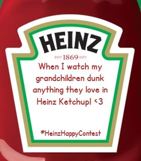 I shared my happiness with the world. Now, you should too. Stay Happy. Enter yours at  heinzketchup.com exp. 2/23/2015~ for a chance to win prizes up to $5,700.