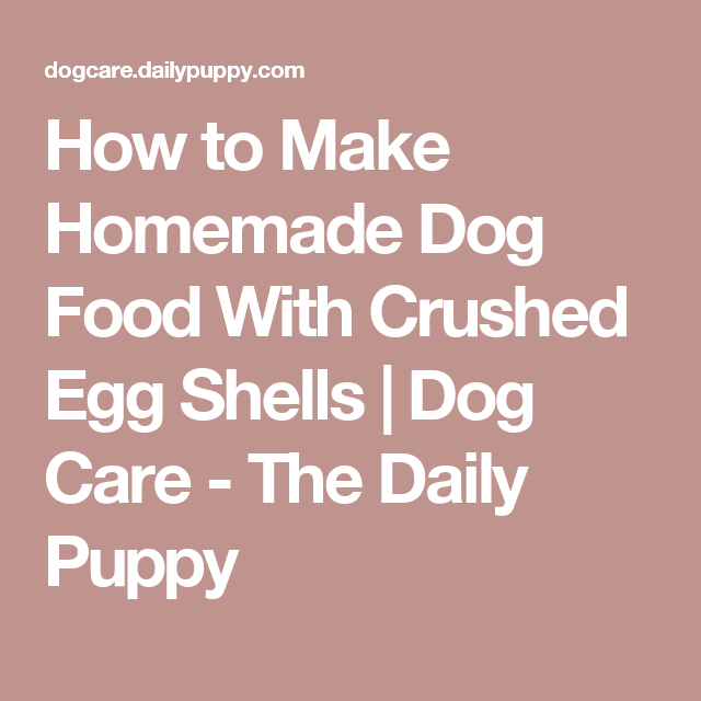 How to make homemade dog food with crushed egg shells dog care how to make homemade dog food with crushed egg shells dog care the daily forumfinder Choice Image