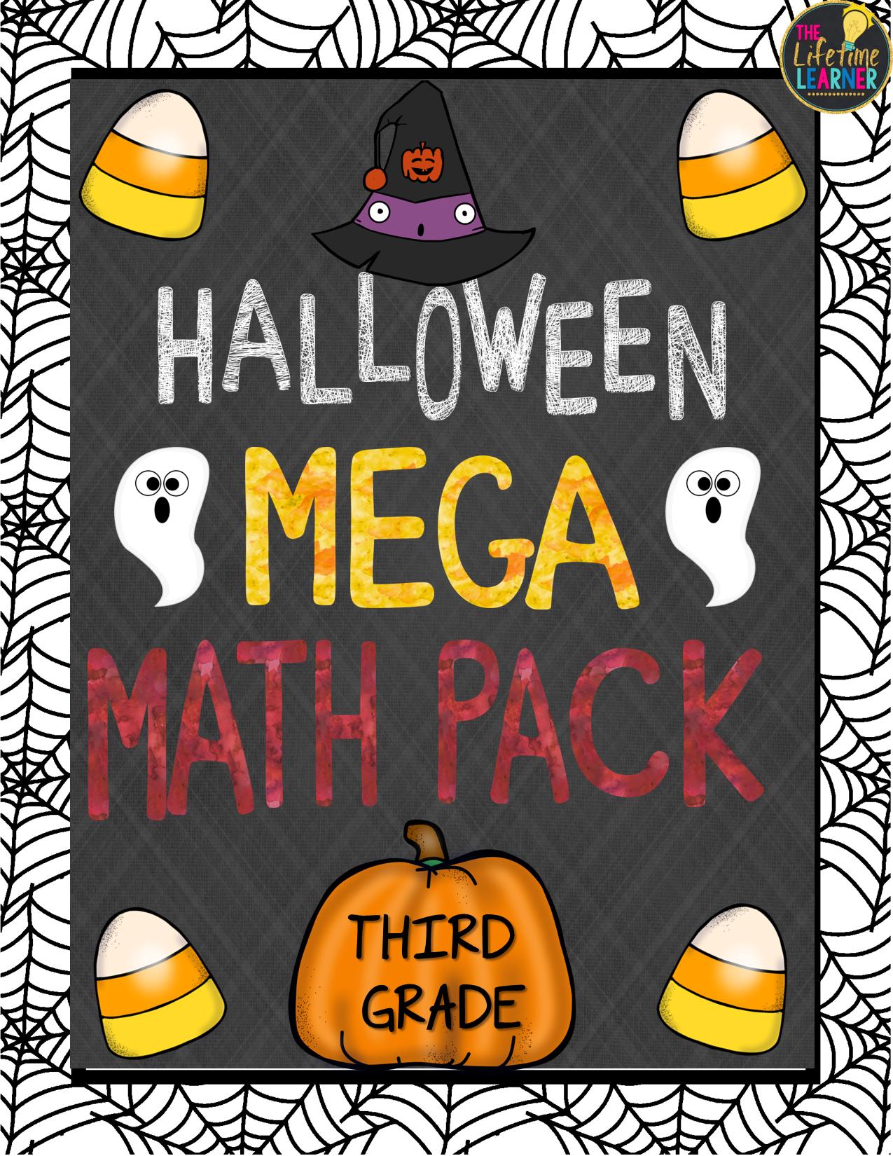This Halloween Third Grade Math Mega Pack Includes 12 Fun