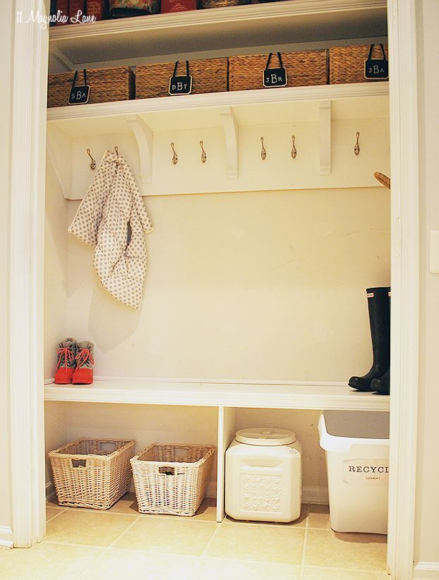 Turn A Closet Into Your Mudroom  Perfect For When You Donu0027t Have An Actual  Mudroom! More