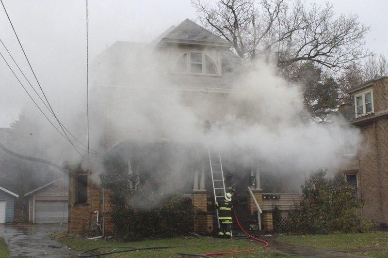 Fire damages North Hill house Fire damage, House on a