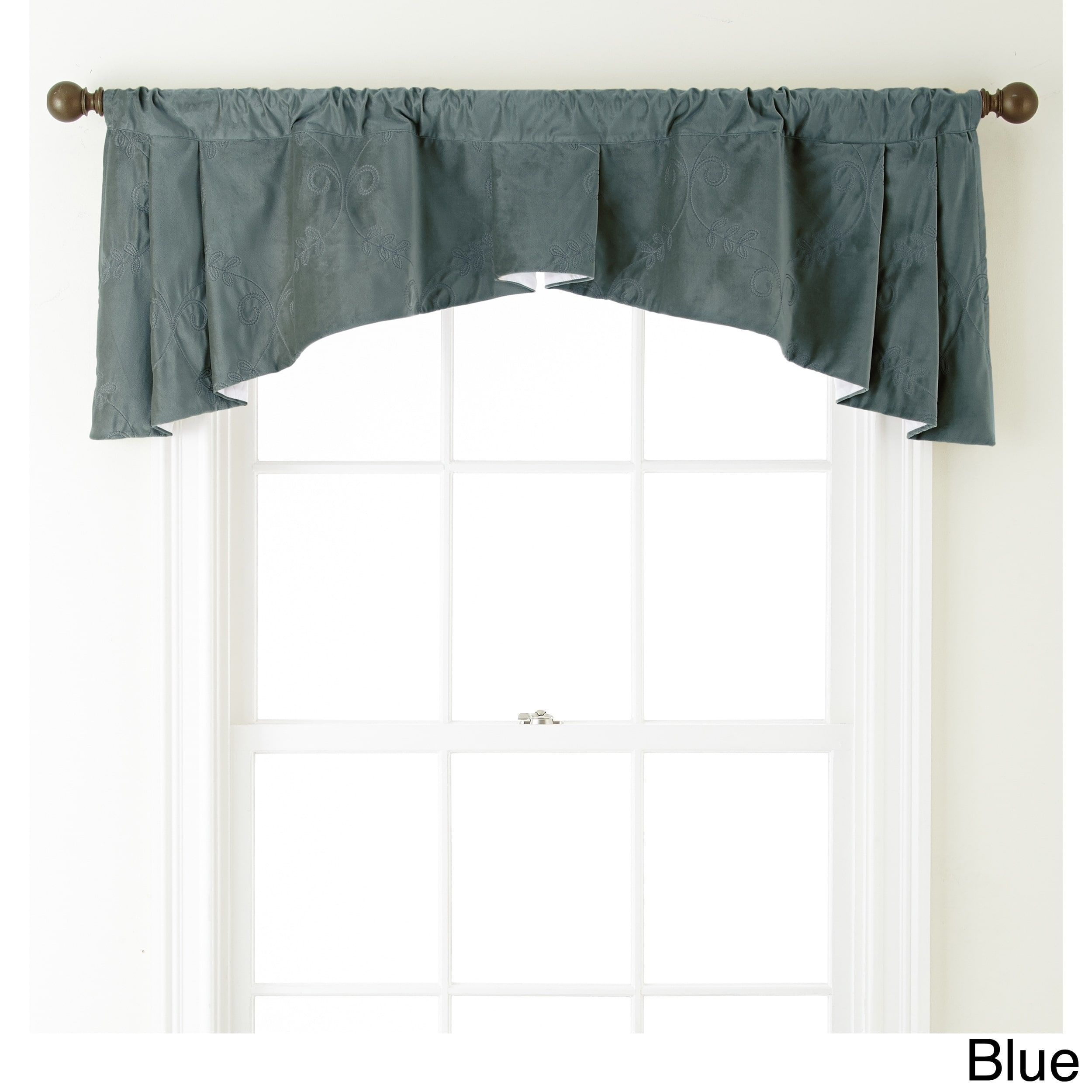 Nanshing velvet x inch embroidered curtain valance x