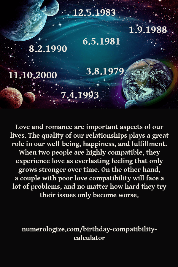 Find out how much your life path number is compatible with your